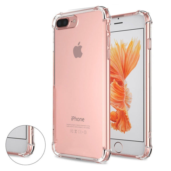 iPhone 8 Plus / iPhone 7 Plus Transparent Case with Reinforced Corners [Anti-Discoloration] [No-Slip Grip]