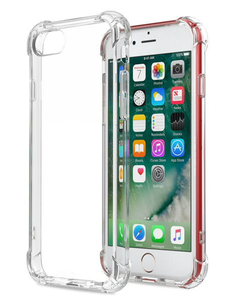 iPhone 8 / iPhone 7 Transparent Case with Reinforced Corners [Anti-Discoloration] [No-Slip Grip]
