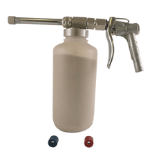 An image of a Tri-Con dry sprayer with plastic container attachment