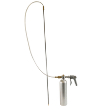 an image of a metal canister with a spray handle and a tube with a long spray nozzle rod attached to it.