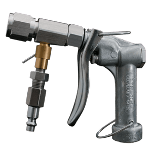 An image of a Tri-Con air/water pressure wash system with a quick connect coupler attached.