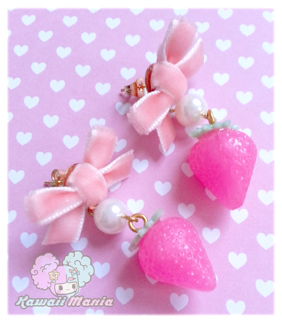 Boucles d'oreilles Pink Strawberries