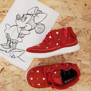 CLARKS - Cloud Polka - Red Minnie Mouse