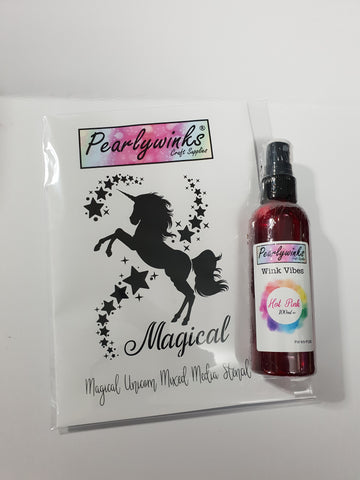 Magical Unicorn Stencil – Pearlywinks Craft Supplies