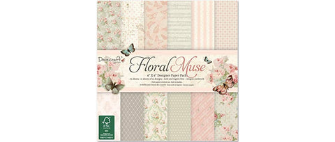 Dovecraft Floral Muse 6x6 Paper Pad