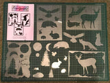 Scenery and British wildlife Stencils