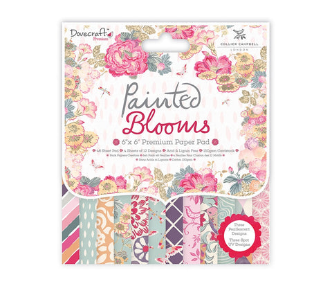 Dovecraft Painted Blooms 6x6 Paper Pad