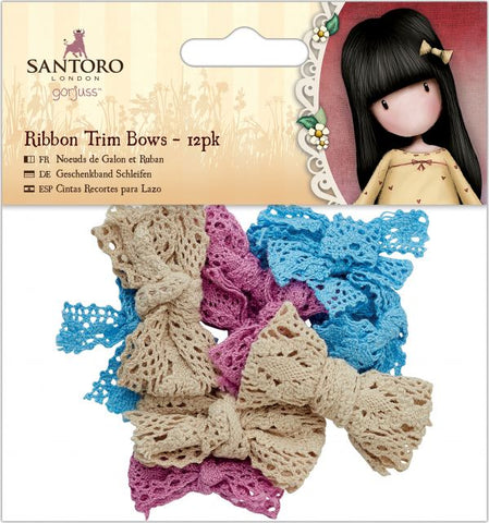 SANTORO Ribbon Trim Box - 12 pack