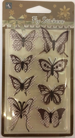 Habico 3D Butterfly Stickers
