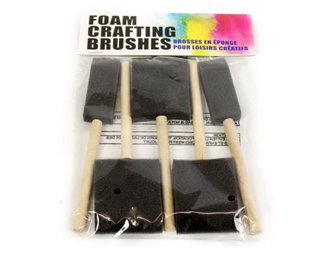 Pack Of 5 Foam Crafting Brushes