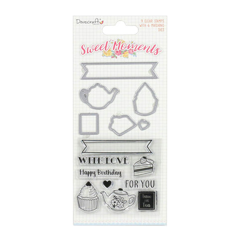 Dovecraft Sweet Moments Collection - Steel Die & Stamps set