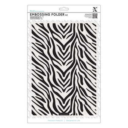 X Cut Embossing Folder - Zebra Print