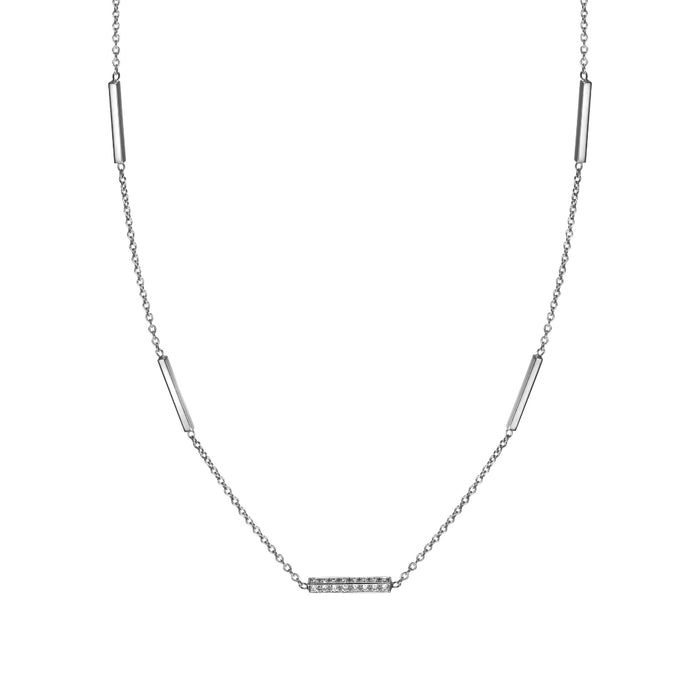 diamond grande line necklace in 14k white gold