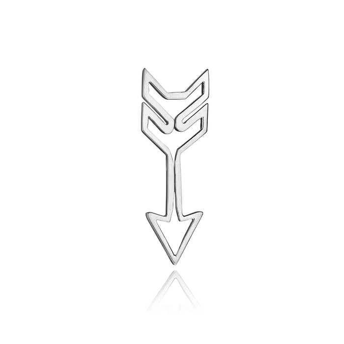 lafia charm collection small arrow 14k white gold