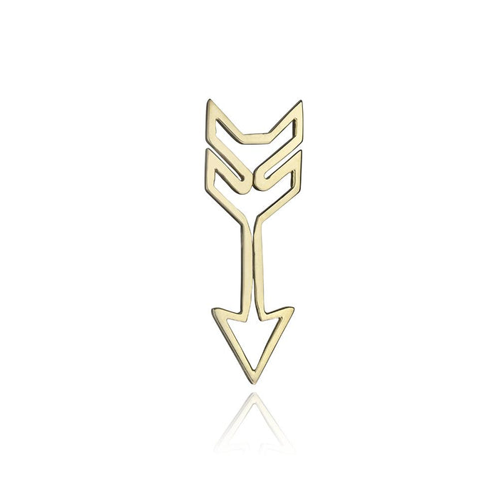 lafia charm collection small arrow in yellow 14k gold