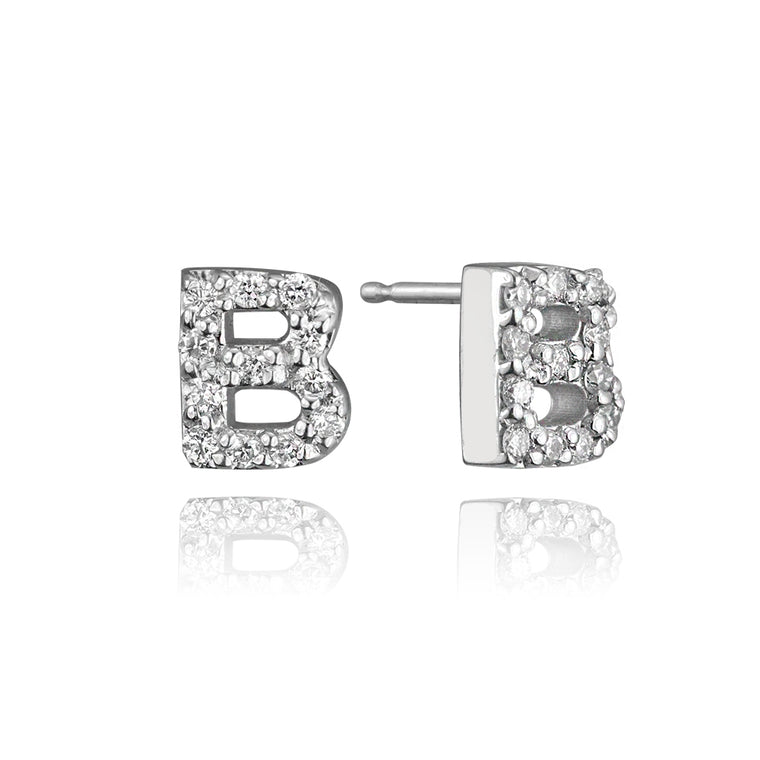 DIAMOND INITIAL STUD