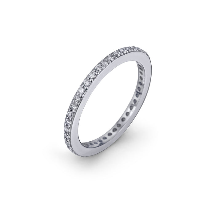 lafia goddess channel set diamond eternity ring white gold