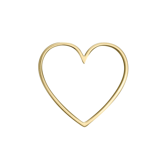lafia charm collection large heart in 14k yellow gold