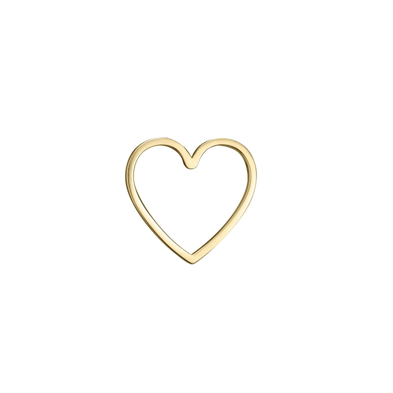 lafia charm collection small heart in 14k yellow gold
