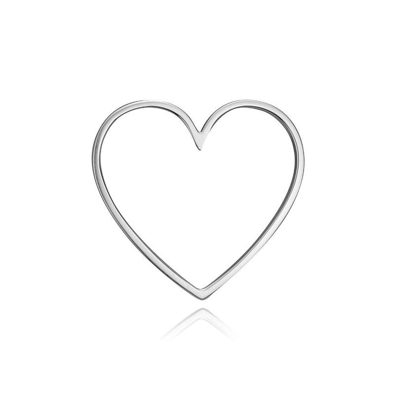 lafia charm collection large heart in white 14k gold