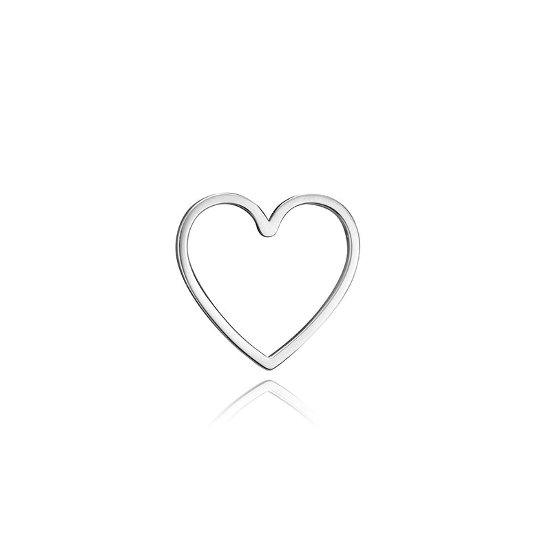 lafia charm collection small heart in white 14k gold