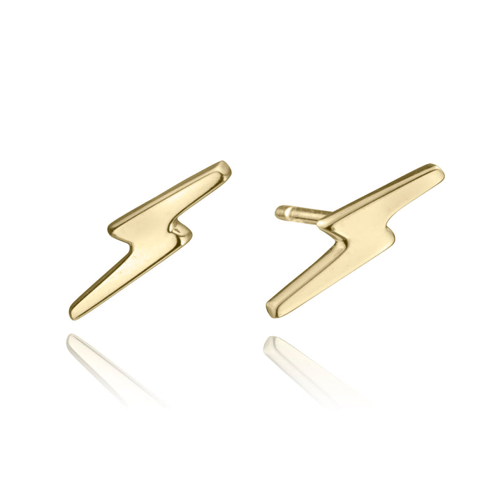 lafia stud collection lightning stud 14 karat yellow gold