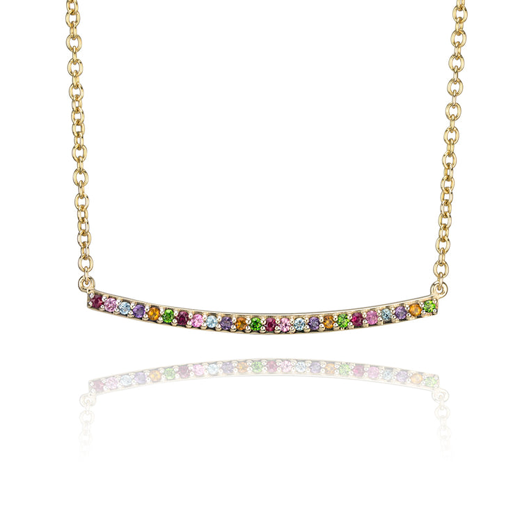 RAINBOW NARROW NECKLACE