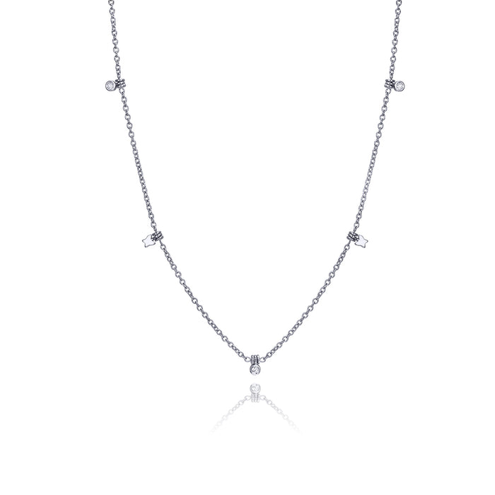 lafia collection diamond and butterfly choker white gold