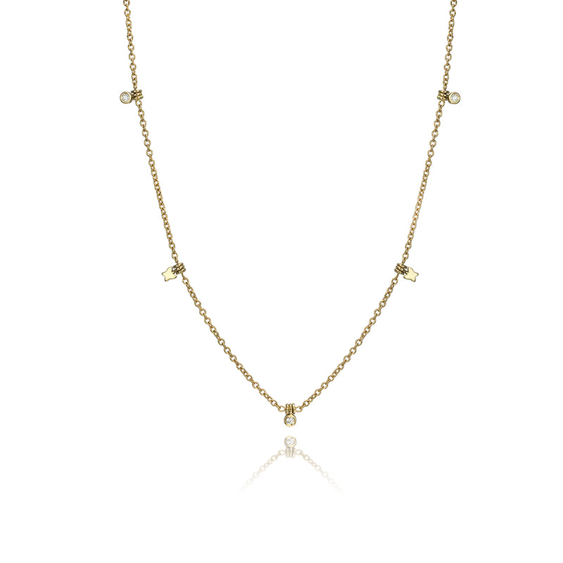lafia collection diamond and butterfly choker yellow gold