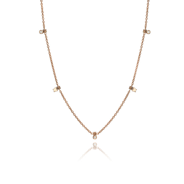 lafia collection diamond and butterfly choker rose gold