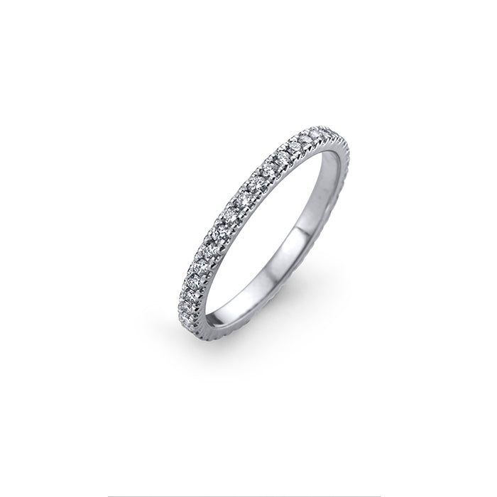 lafia goddess channel set diamond eternity ring 14 karat white gold