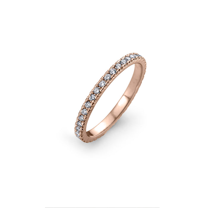 lafia goddess channel set diamond eternity ring 14 karat rose gold