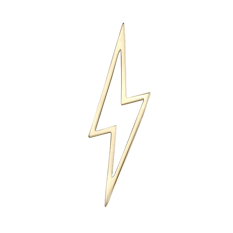 lafia charm collection large lightning in 14k yellow gold