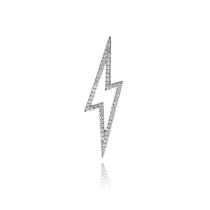 lafia charm collection small diamond lightning in 14k white gold