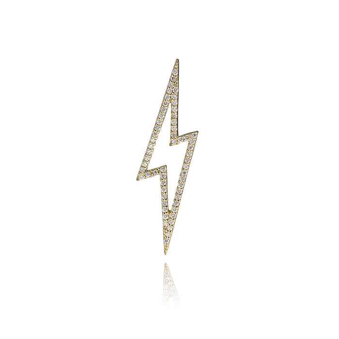 lafia charm collection small diamond lightning in yellow 14k gold
