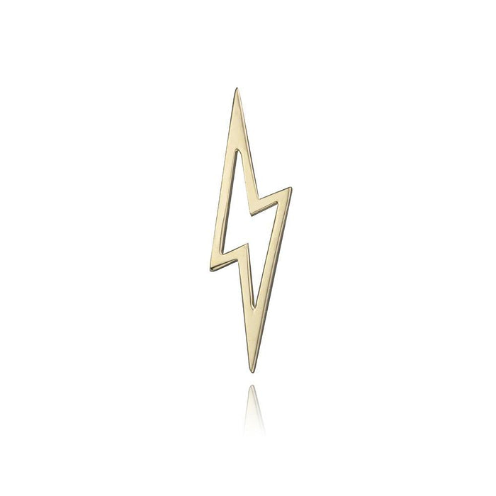 lafia charm collection small lightning in yellow 14k gold