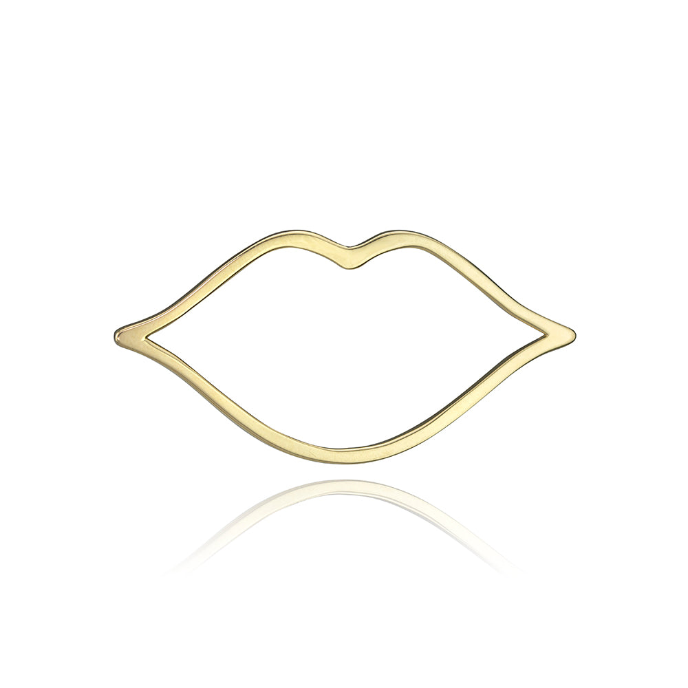 lafia charm collection large lips charm in yellow 14k gold