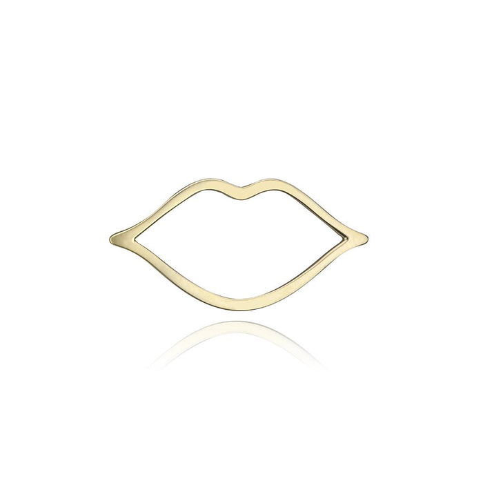 lafia charm collection small lips charm in yellow 14k gold