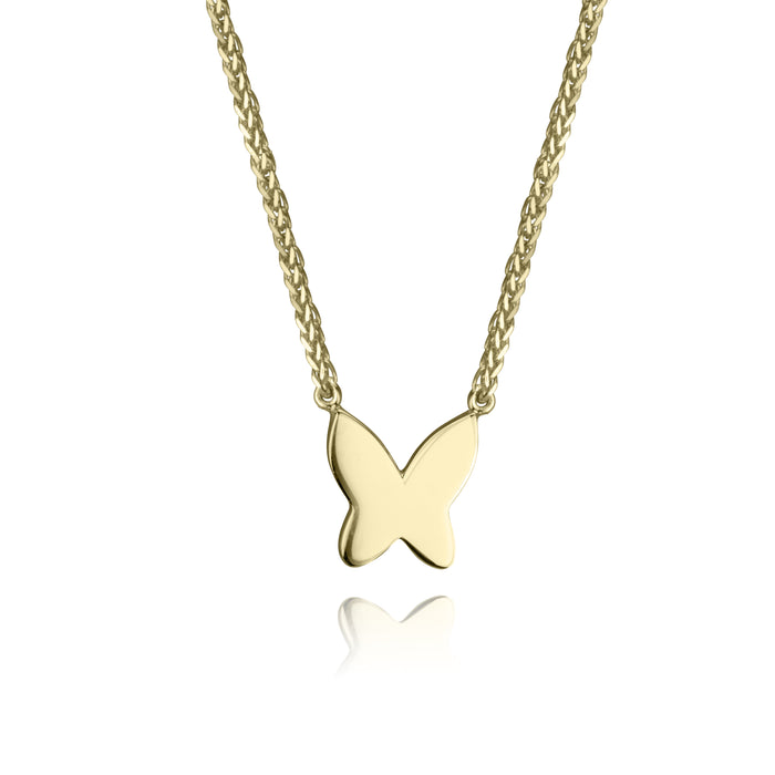 lafia collection butterfly necklace 14 karat yellow gold