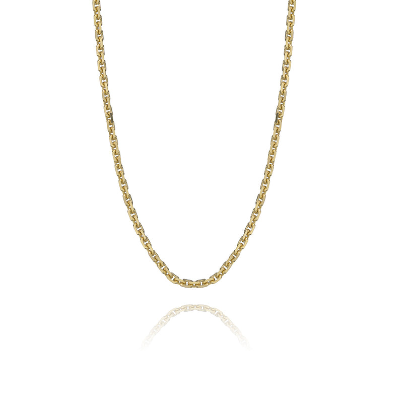 Oval link chain in 14k yellow gold