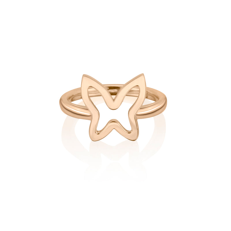 lafia collection open butterfly ring in rose gold