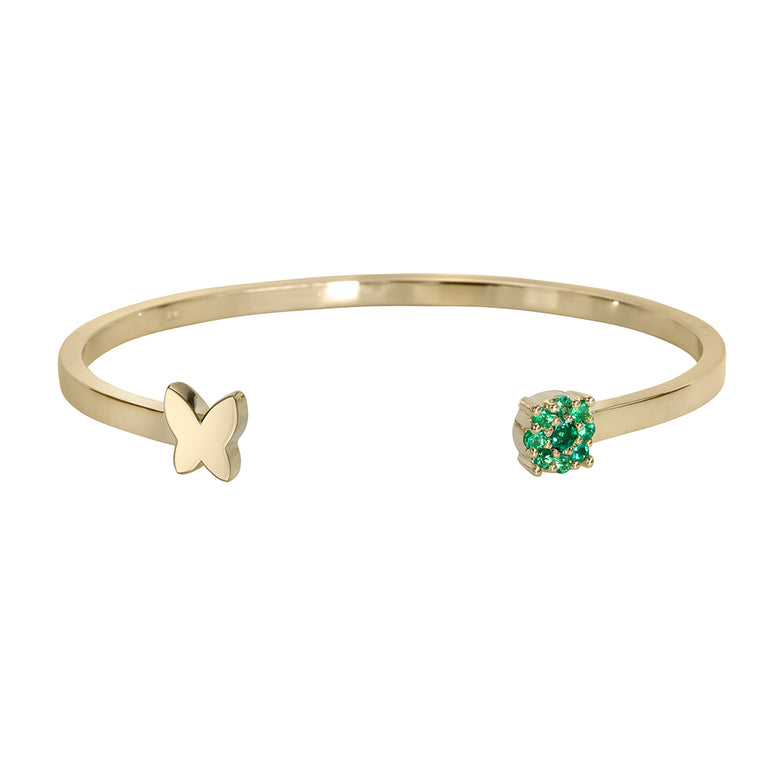 BUTTERFLY BANGLE WITH SEMI-PRECIOUS STONES