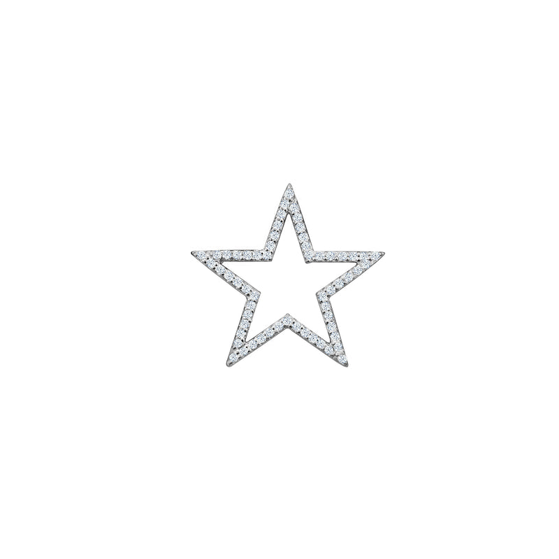 Diamond Star charm small in 14 karat white gold