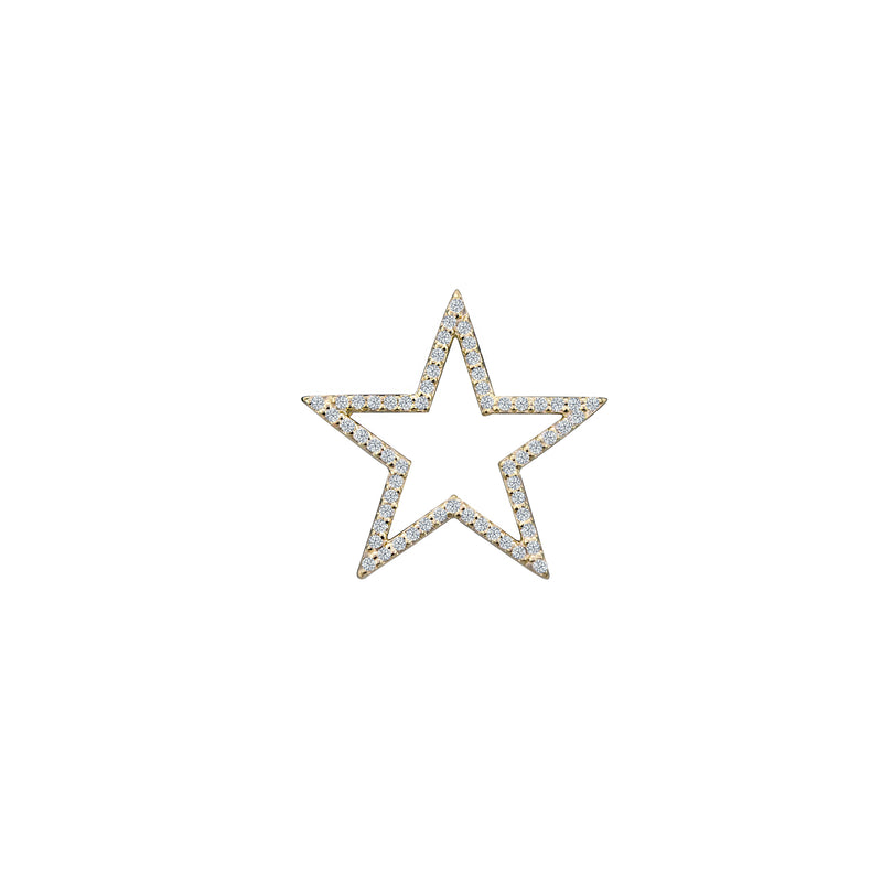Diamond Star charm small in 14 karat yellow gold