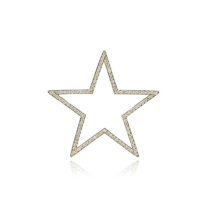 lafia charm collection large diamond star charm in yellow 14k gold