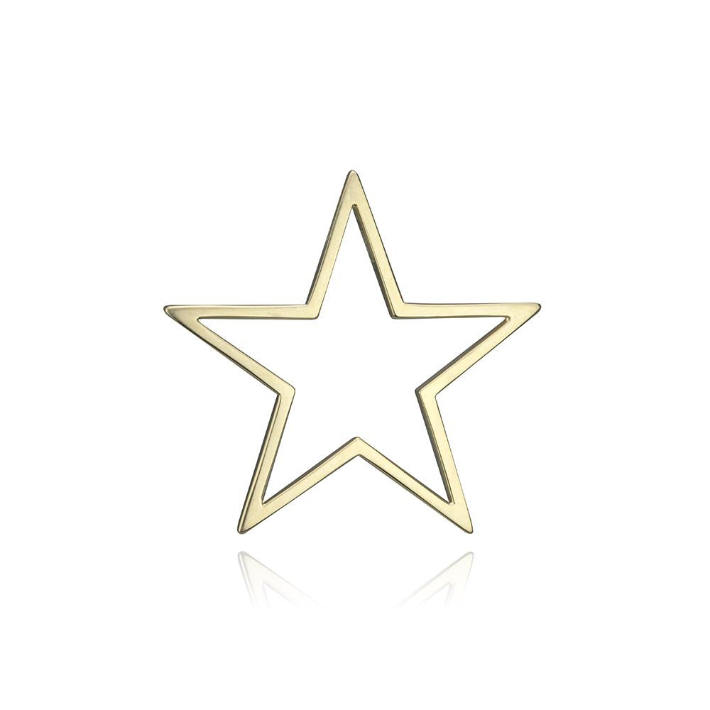 lafia charm collection large star charm in yellow 14k gold