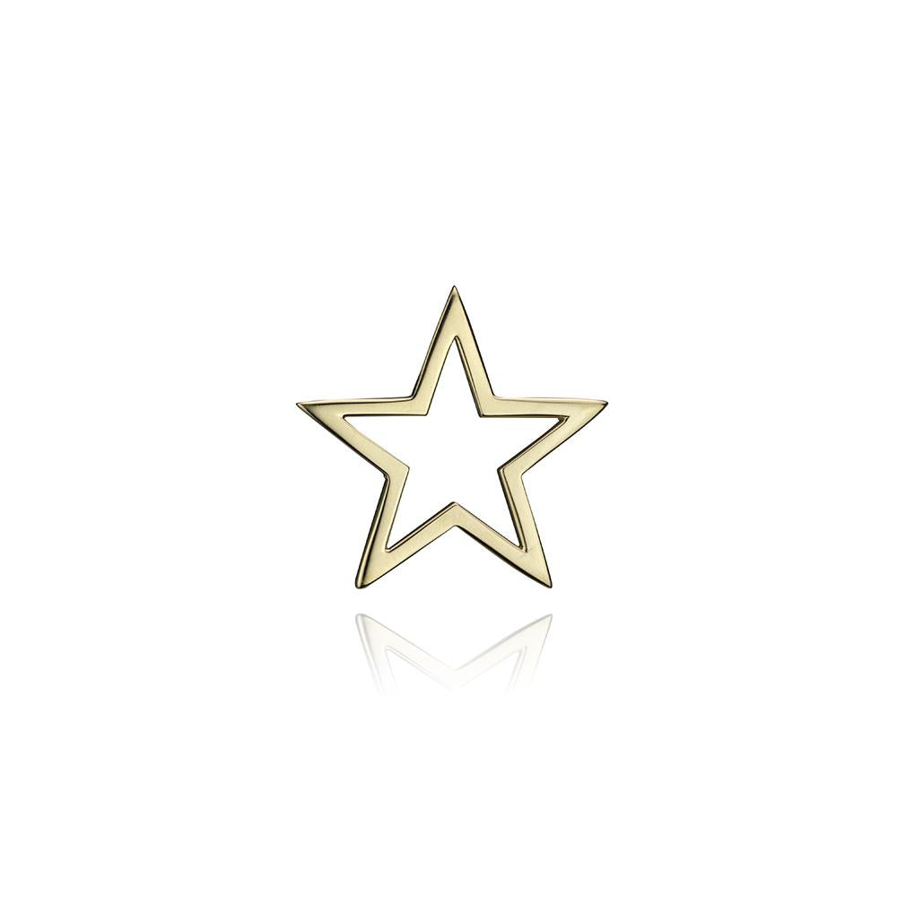 lafia charm collection small star charm in yellow 14k gold