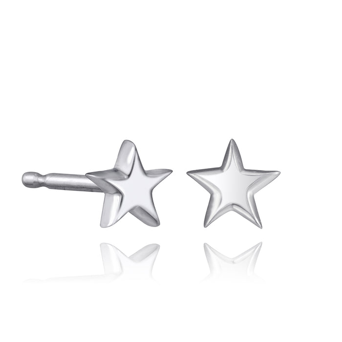 lafia mini stud collection star stud white gold