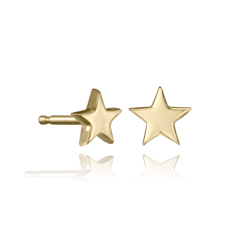 lafia mini stud collection star stud yellow gold