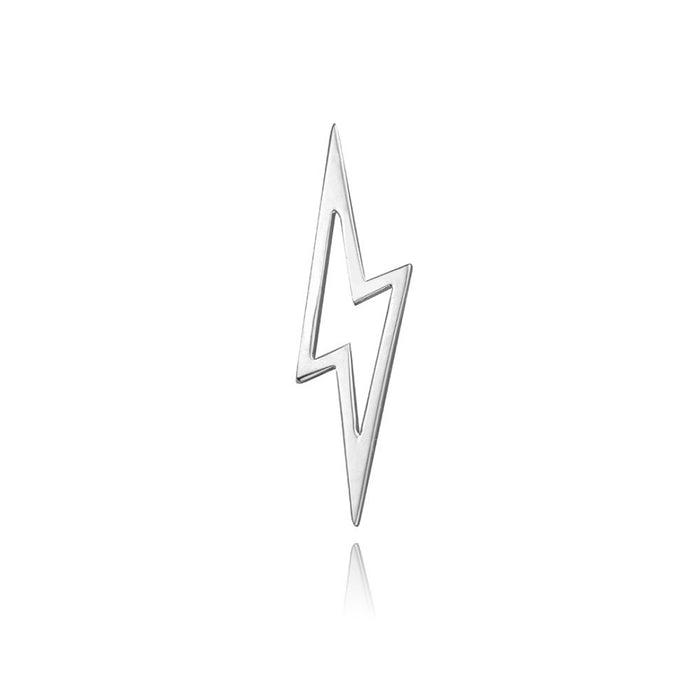 lafia charm collection small lightning in 14k white  gold